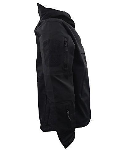 MAGCOMSEN Men's Hunting Ops Jacket Camping Combat Coat Jacket Men Black