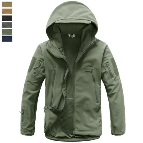 men s tactical soft shell warm jacket