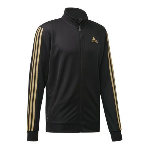 men s tiro track jacket black gold