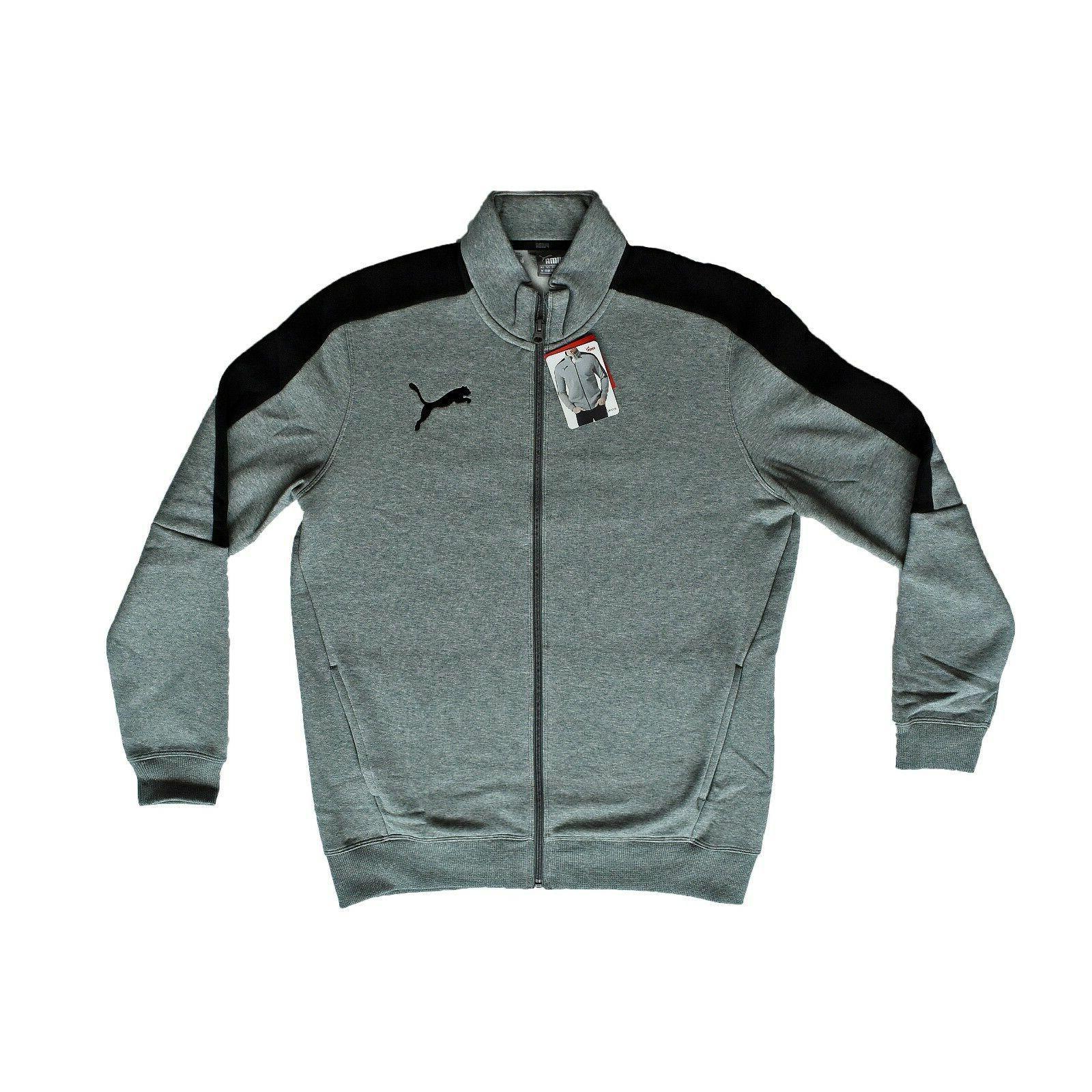 Men's Puma Track Jacket, Color Medium Grey, Sizes M, L, XL