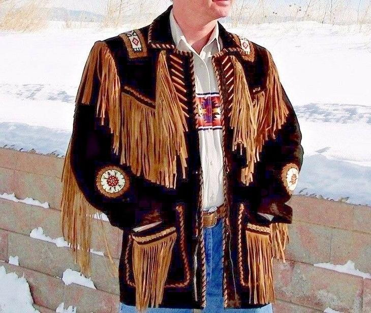 men s traditional western leather jacket cowboy