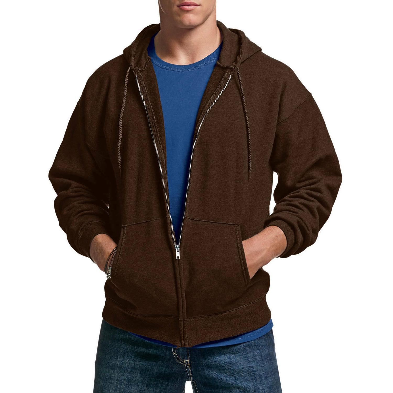 men s ultimate cotton chocolate fleece zip