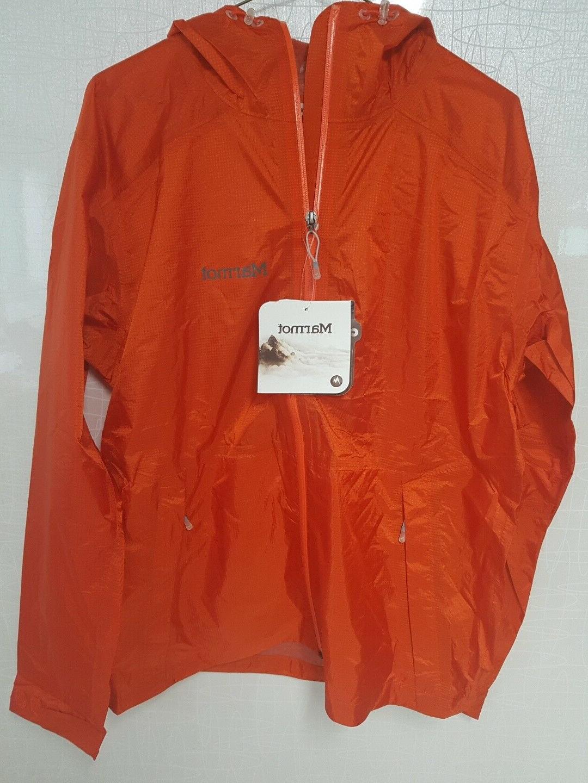 Men's Marmot Ultra light Mica Orange Jacket rain jacket,well