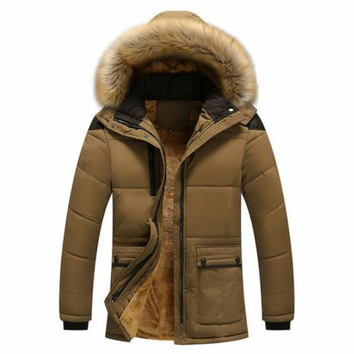 Men's Warm Down Jacket Collar Winter Outwear