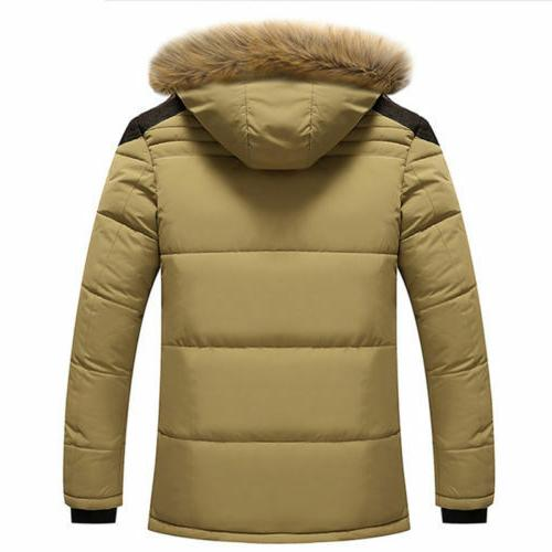 Men's Cotton Jacket Thick Winter Hooded Coat Outwear
