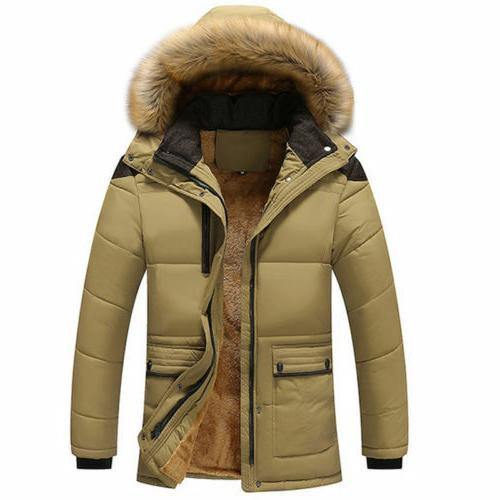Men's Cotton Jacket Fur Thick Winter Outwear