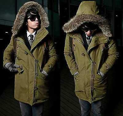 men s warm down cotton jacket fur