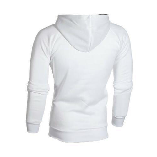 Men's Warm Hoodie Hooded Sweatshirt Jumper Winter