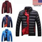 Men's Warm Winter Jacket Outdoor Thick Padded Parka Coat Sli