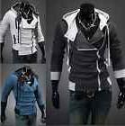 Men's Warm Zip Up Hoodie Hooded Sweater Slim Fit Sweatshirt