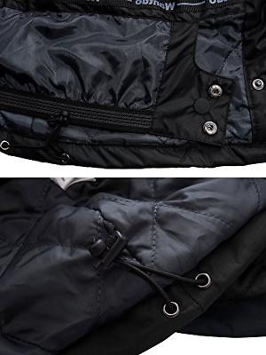 Wantdo Men's Jacket Fleece Windproof Jacket US L Black