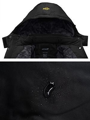 Wantdo Waterproof Jacket Fleece Jacket US L Black
