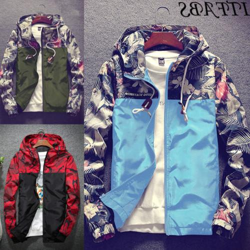 Men's Waterproof Windbreaker Zip Riding Outwear