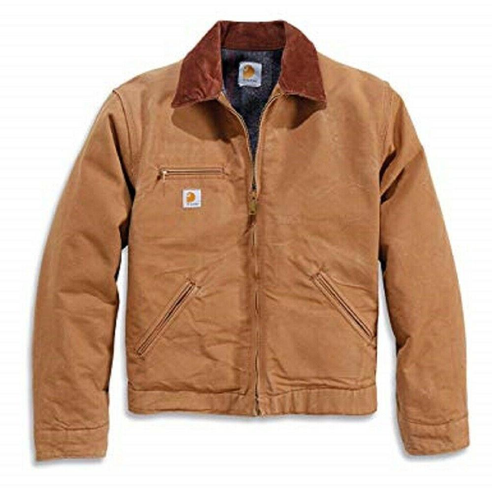 men s weathered detroit jacket brown
