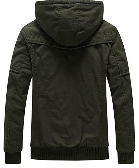 WenVen Men's Winter Jacket Coat Green Small NEW🔥