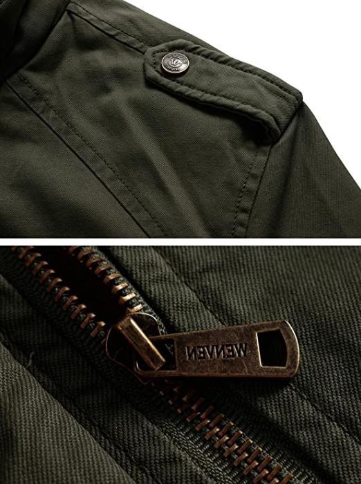 WenVen Fleece Jacket Coat Army Small NEW🔥