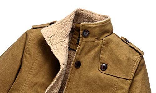 Vcansion Winter Windproof Jacket Wool Single Cotton Windbreaker Coats Yellow S