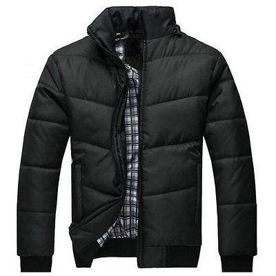 Men's Jacket Warm Overcoat Hooded Down Winter