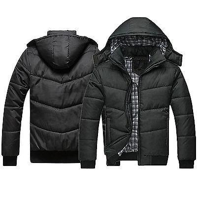 men s black puffer jacket warm overcoat