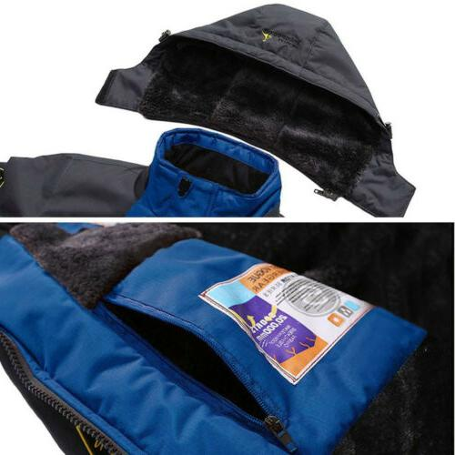 Men's Coat Snow Waterproof Fleece Warm Outerwear