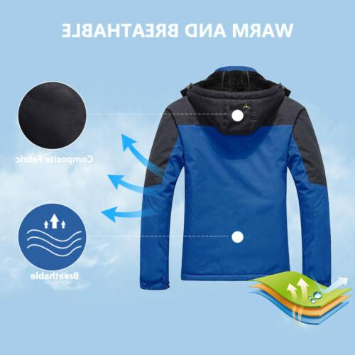 Men's Winter Ski Coat Snow Waterproof Fleece