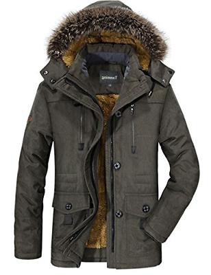 men s winter warm faux fur lined