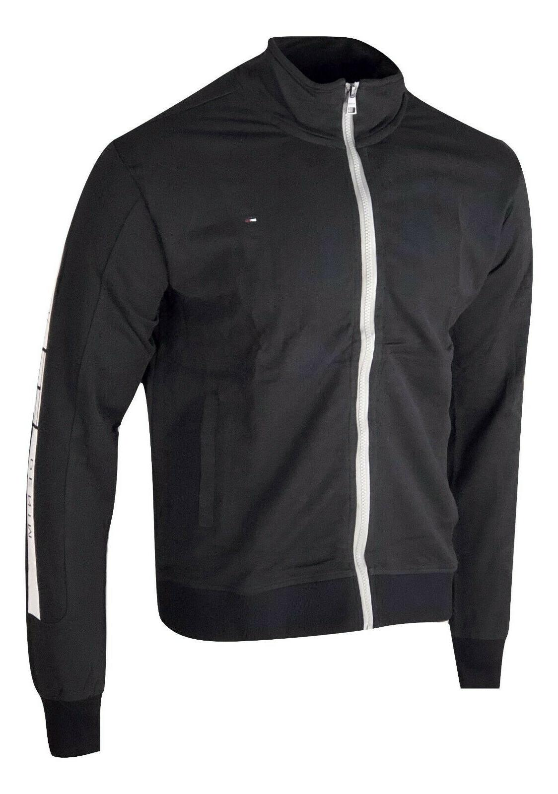 Tommy with White Full-Zip Jacket - Black