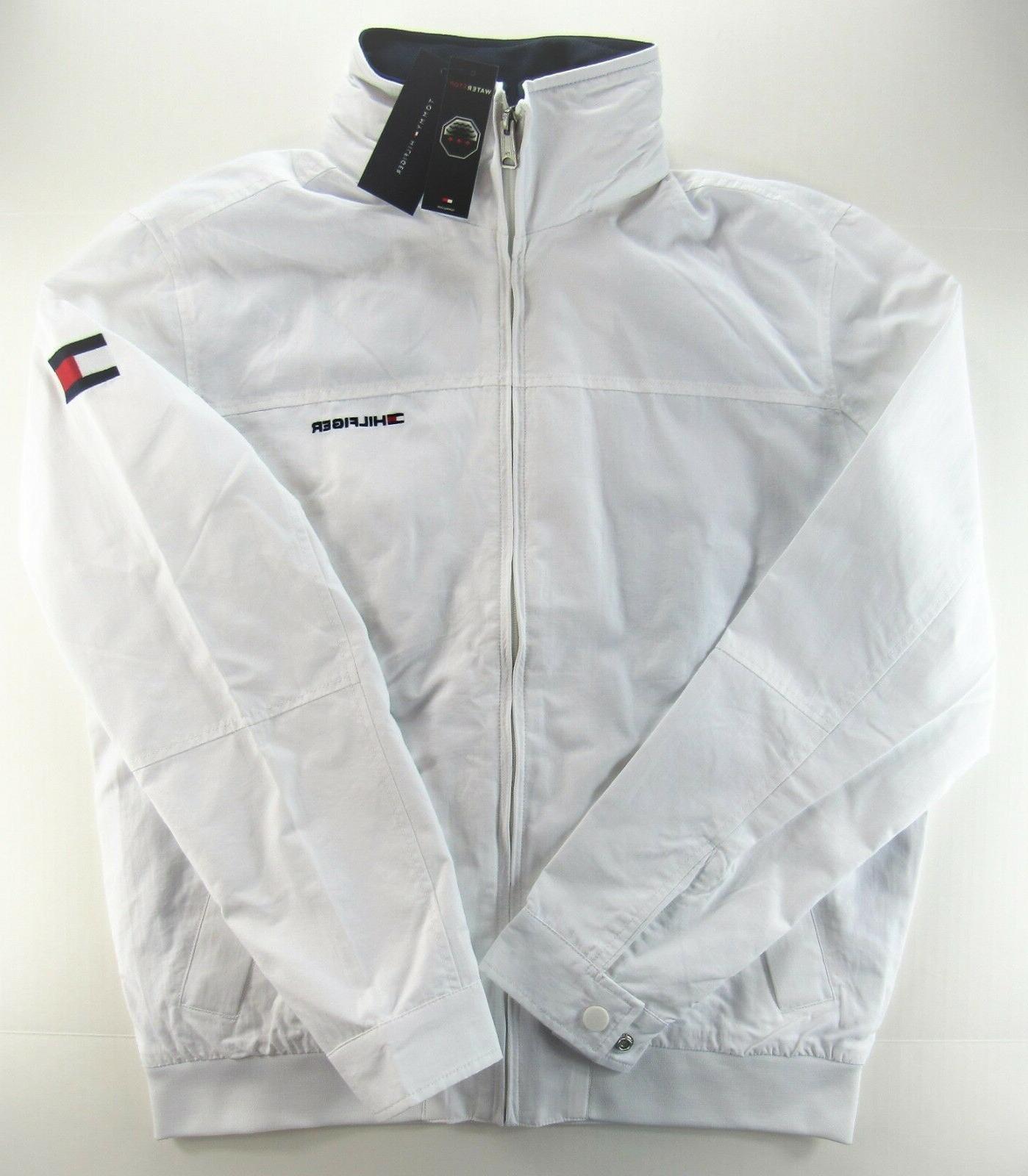 men s yacht jacket windbreaker waterstop white