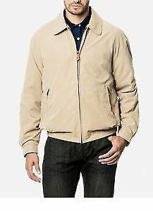London Fog Men's Zip-Front Mesh Lined Golf Jacket -Cement -