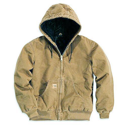 L&M Men's Jacket Sandstone Canvas Quilted Industrial