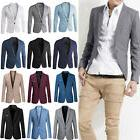 Men Slim Fit One Button Formal Suit Blazer Long Sleeve Busin