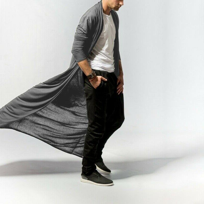 Men Coat Ankle-length Cardigan Jacket