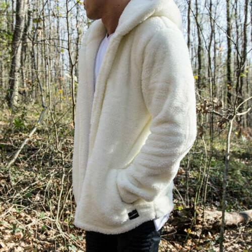 Men Thick Tops Fluffy Jacket Outerwear