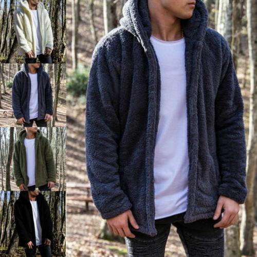 Men Tops Fleece Jacket Hooded