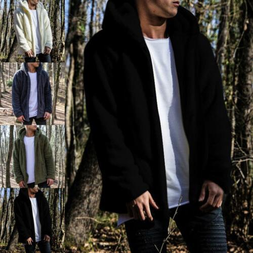 Men Thick Tops Fleece Jacket Coat Outerwear