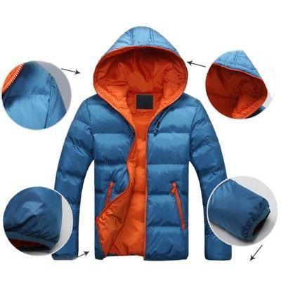Men Cotton Down Jacket Snow Thick Parka Tops