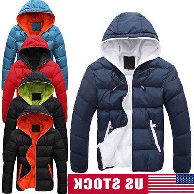 men winter warm cotton down jacket ski