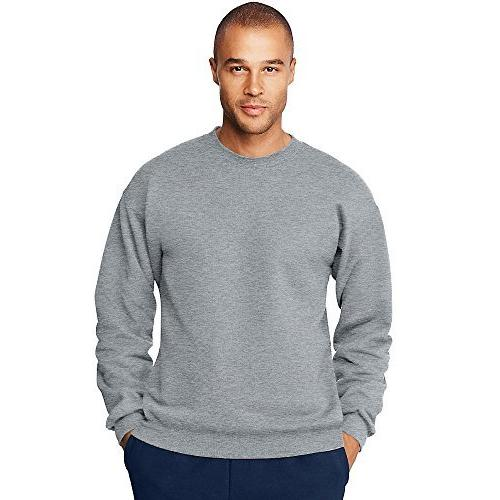 menas ultimate cotton heavyweight crewneck sweatshirt light
