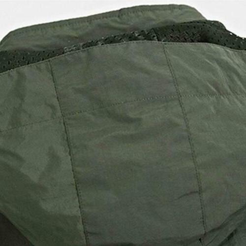 Mens Jacket Hooded Camping Windbreaker Outwear Coat
