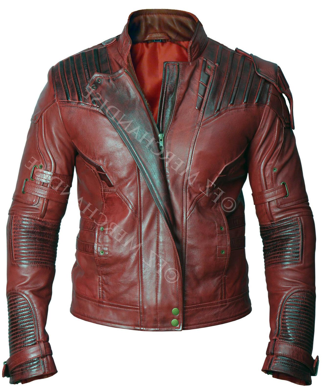 Mens Avengers Star Vintage Leather