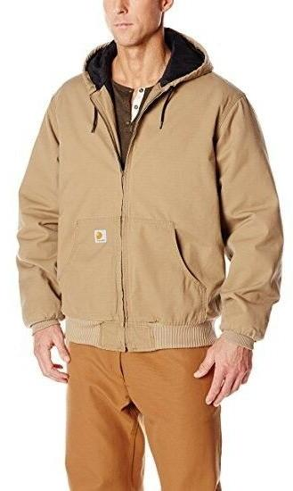 Carhartt Mens Big & Tall Ripstop Hooded Quilt Lined Jacket C