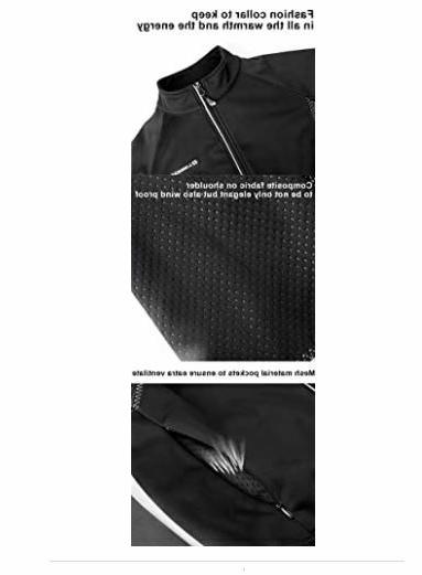 Mens Black Windproof Full 3-layers Stretch Jacket
