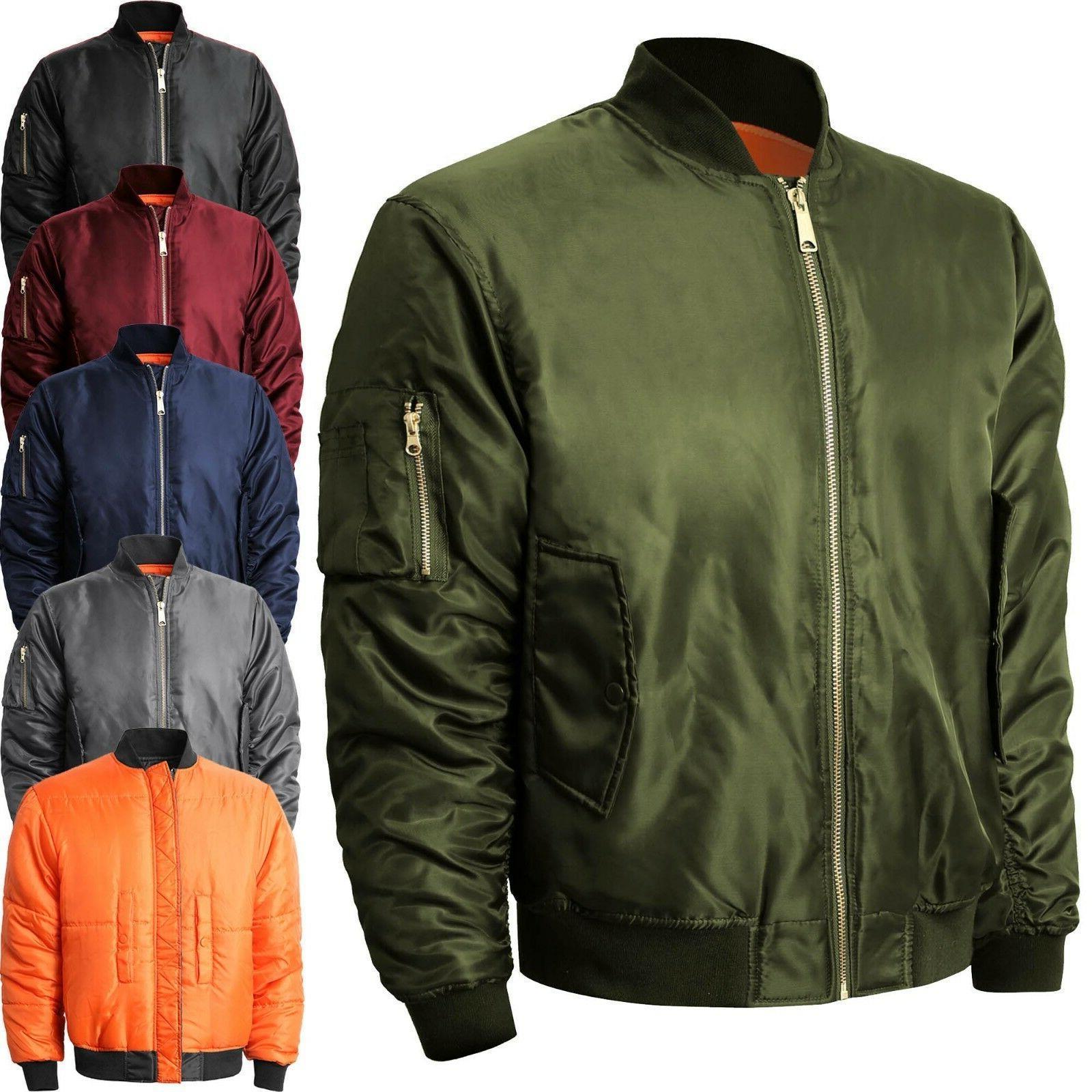 mens bomber jacket winter flight military air