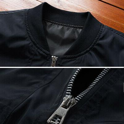 Mens Casual Fashion Bomber Jacket Baseball Coat