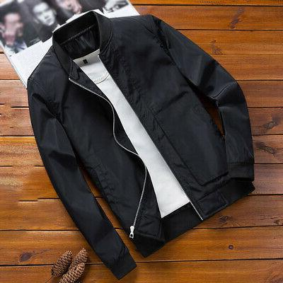 Mens Fashion Jacket Winter Coat Slim Fit