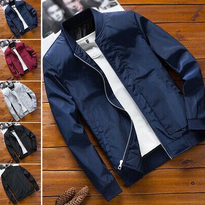 mens casual fashion bomber jacket winter warm