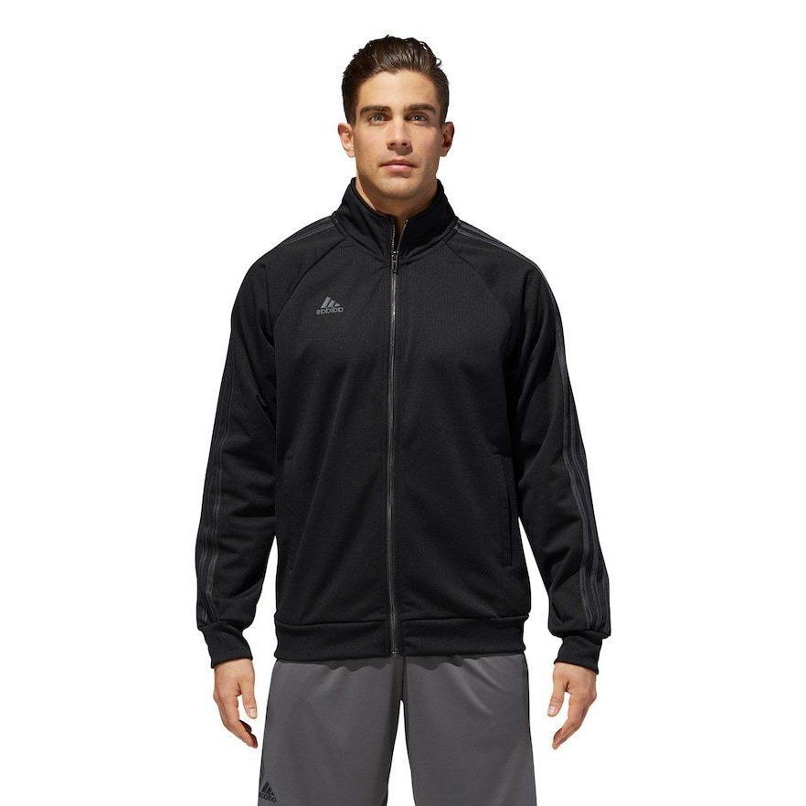 Mens Adidas Essential Track Jacket Sleeve Shirt Size