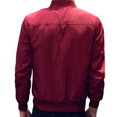 Mens Casual Jacket Warm Winter Coat Slim Fit Outwear