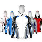 Mens Fishing Quick Dry Breathable Anti-UV Full Zip Up Face H