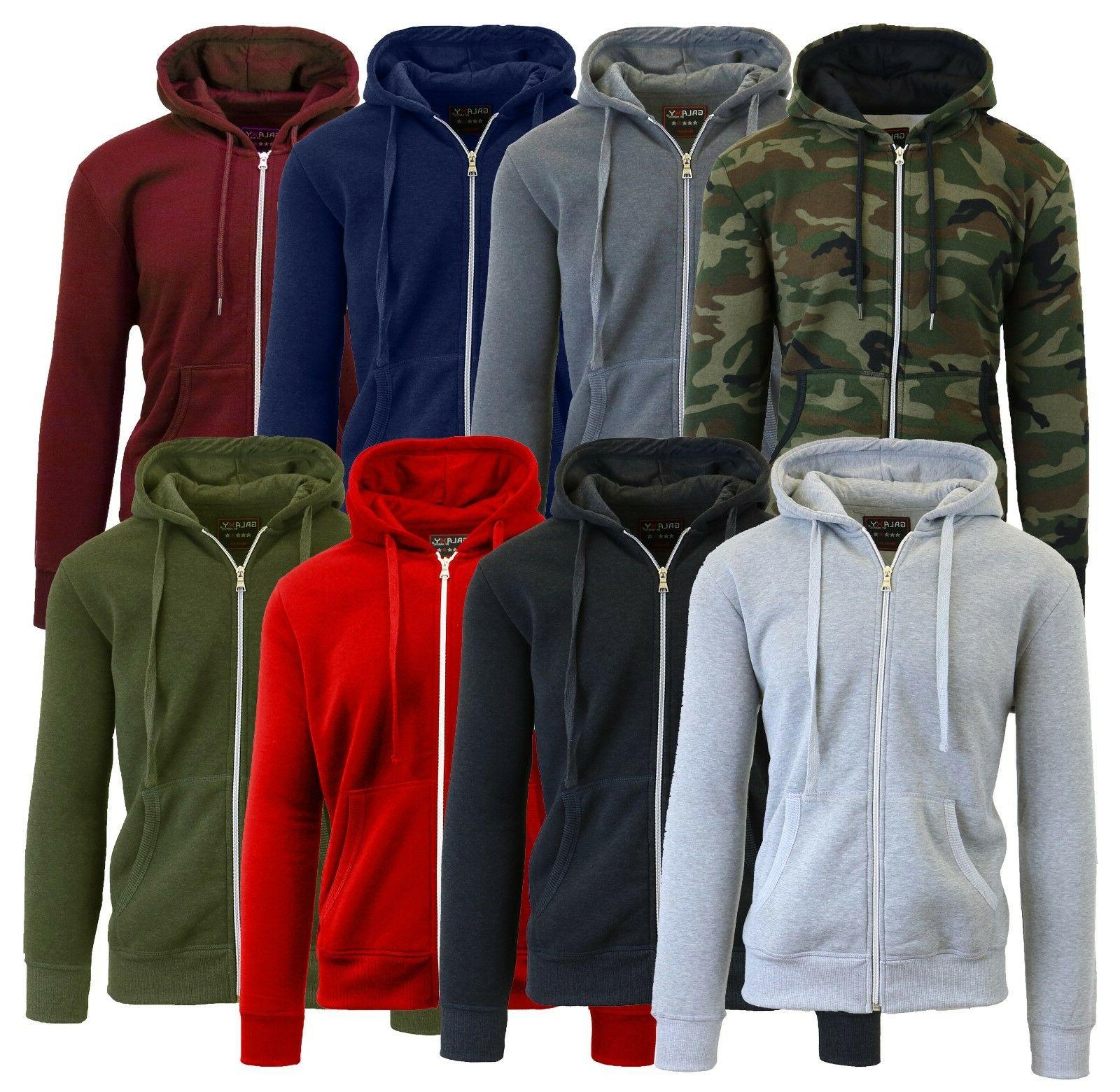 mens fleece hoodie jacket sweater for layering